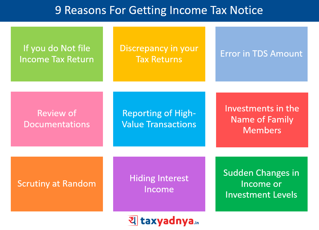 9 Reasons For Getting Income Tax Notice